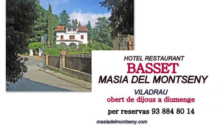Horaris Masia del Montseny