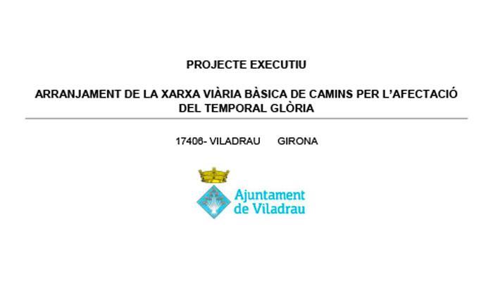 Viladrau Projecte executiu arrenjament de la xarxa viària bàsica de camins per l